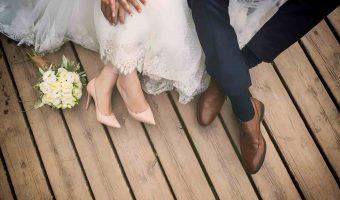 chaussures pour la mariée